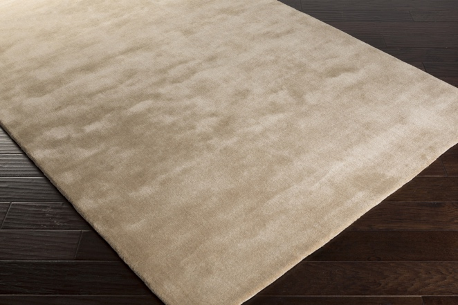 Solid silk luxury carpet